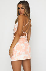 No Guilt Crop Peach Tie Dye