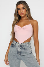 My Love Is Yours Crop Baby Pink