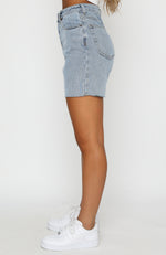 Young And Free Denim Shorts Blue Denim