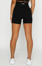 Seamless High Waisted Shorts Black