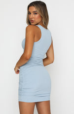 Chase The City Mini Dress Steel Blue
