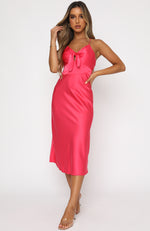 Out Tonight Midi Dress Hot Pink