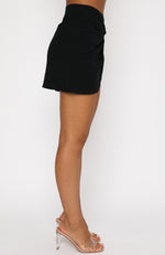 Sunset Views Mini Skirt Black
