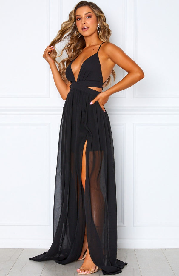 Only Girl Maxi Dress Black