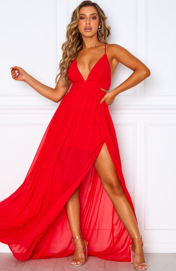 Only Girl Maxi Dress Red