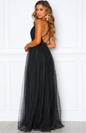 Guest List Maxi Dress Black