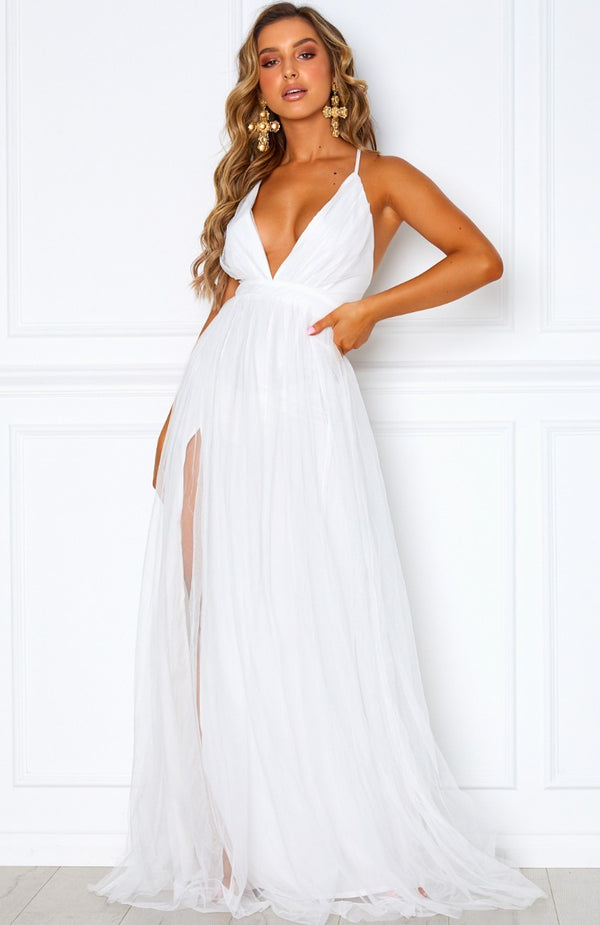 Guest List Maxi Dress White