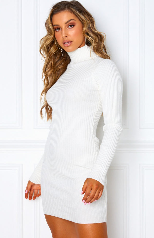 New Yorker Knit Dress White