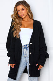 Book Club Cardigan Black