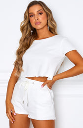 Lover Boy Crop White