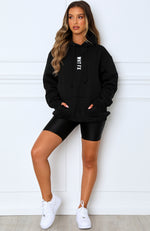 All In Oversized Hoodie Black