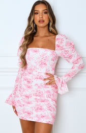 Watch The Runway Mini Dress Pink Floral