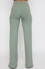 Adore You Ribbed Pants Sage