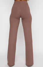 Adore You Ribbed Pants Chocolate
