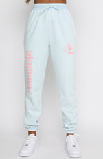 Up To It Sweatpants Washed Blue