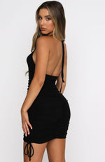 Miss You Halter Mini Dress Black
