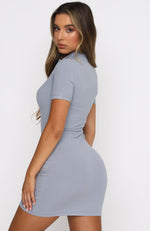 Chase The Night Mini Dress Dusty Blue