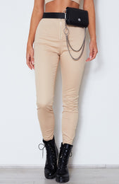 As If! Fitted Pants Beige