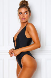 Poolside One Piece Black