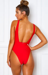 Poolside One Piece Red