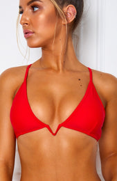 Midsummer Bikini Top Red