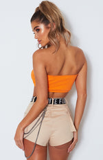 Blazed Tube Top Orange