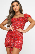 Tell Me About It Mini Dress Red Floral
