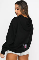 Fly High Oversized Hoodie Black