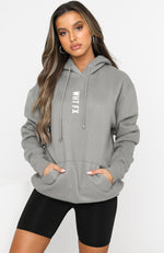 All In Oversized Hoodie Charcoal