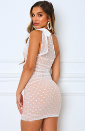 Mai Tai One Shoulder Dress White