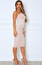 Espresso Martini Midi Dress White
