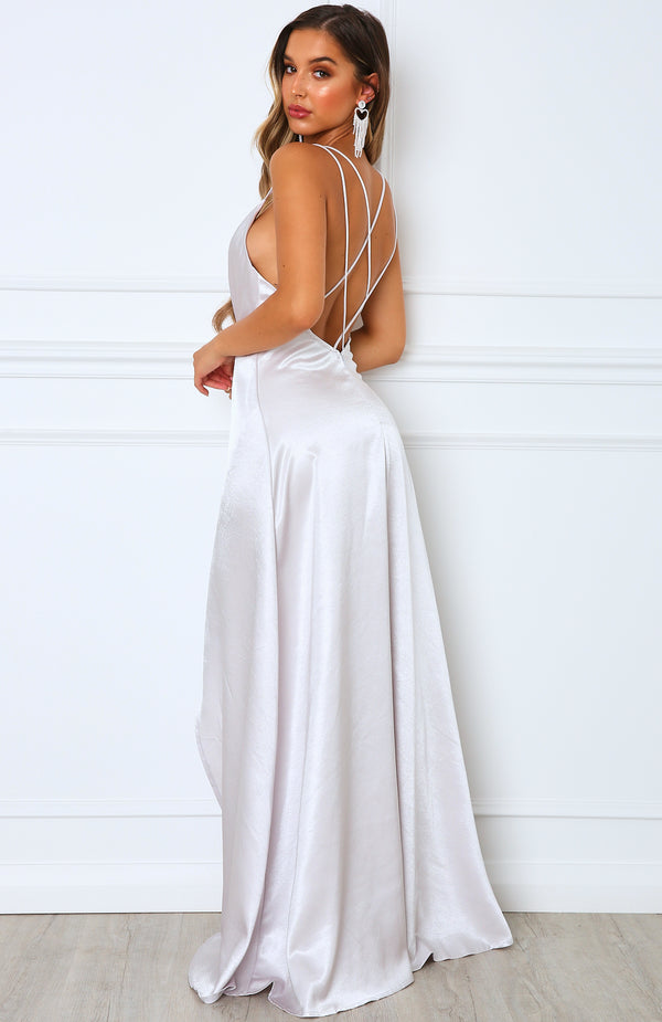 Leading Lady Maxi Dress Silver