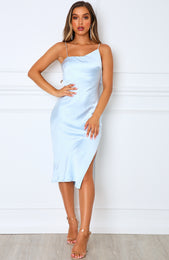 Essence Midi Dress Baby Blue