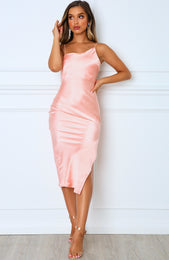 Essence Midi Dress Peach