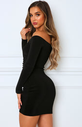 Lights On Mini Dress Black