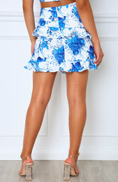 Golden State Mini Skirt Blue Floral