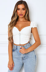 What About Love Crop White