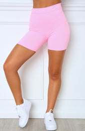 Almost Famous Bike Shorts Pink