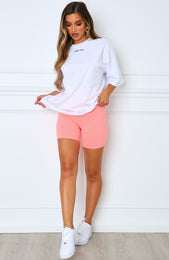 Almost Famous Bike Shorts Coral