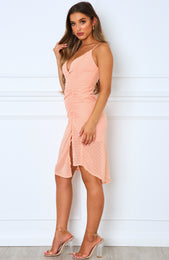 Many Roles Midi Dress Peach