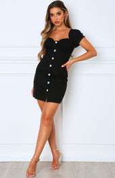 Mood Set Mini Dress Black