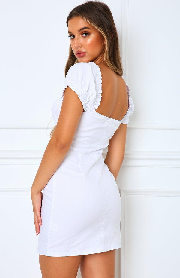 Mood Set Mini Dress White