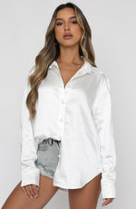 Set In France Long Sleeve Top White