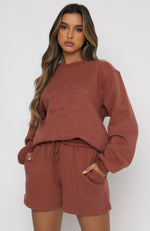 Best Of Both Oversized Sweater Rust