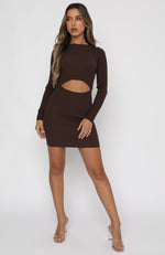 The Headlines Mini Dress Chocolate