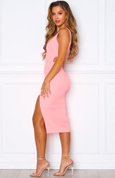 Bliss Pop Midi Dress Neon Pink