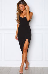 Bliss Pop Midi Dress Black