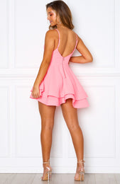 Flirtini Mini Dress Neon Pink