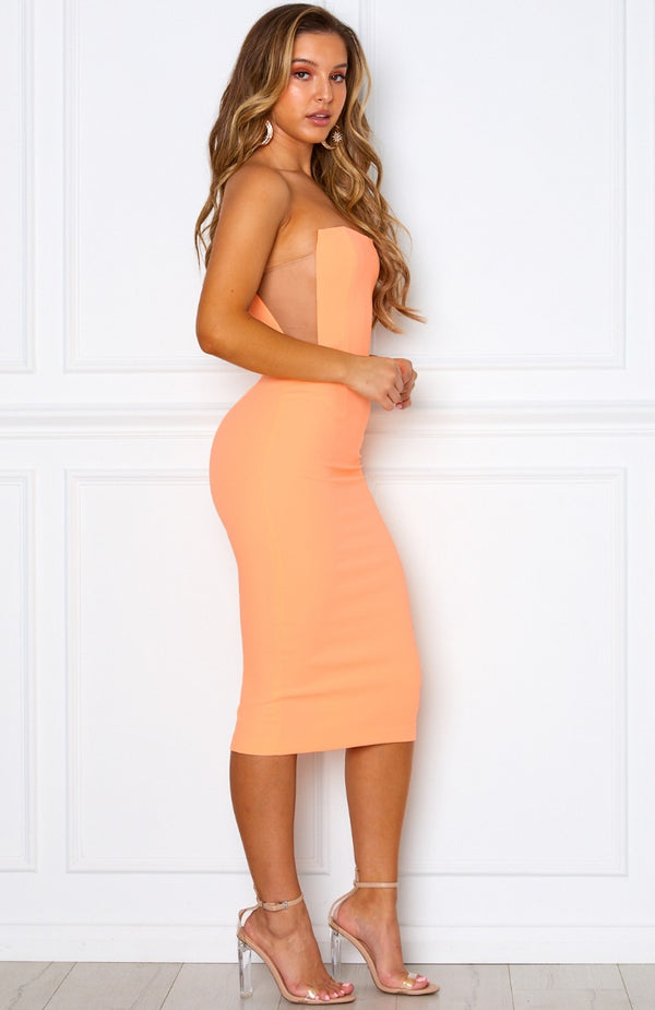 Bellini Breeze Midi Dress Peach