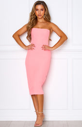 Bellini Breeze Midi Dress Neon Pink
